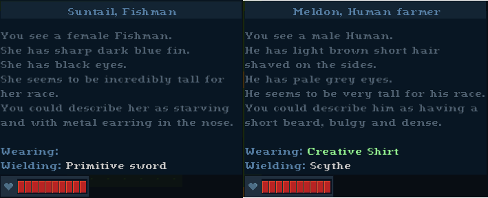 Random NPC description generator in Soulash